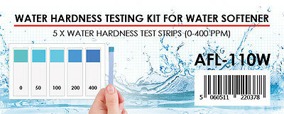 5 x Filterlogic Water Hardness Easy/Accurate Test Strip Kit for water softener