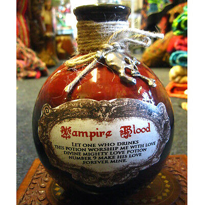VAMPIRES BLOOD BOTTLE Spells Witch HORROR ALCHEMY POTIONS Wiccan PAGAN GOTHIC