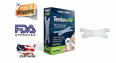 BEST SELLER - LOW PRICE! High Quality Nasal Strips Tenlax Air - 30 Clear Strips