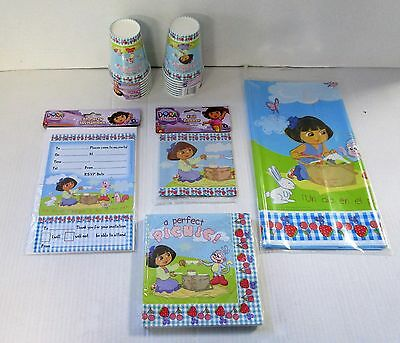 Dora the Explorer Party Pack for 16 - Party Tableware and Decorations