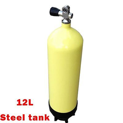 12L Scuba tank Yellow steel tank air cylinder Underwater Diving oxygen cylinder