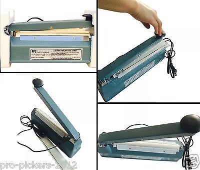 Heavy Duty 300W Metal Iron Poly Bag Plastic Film Foil Wrap Heat Impulse Sealer