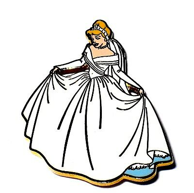RARE LE Disney Pin✿Princess Cinderella Married Wedding Dress Gown Magical Moment