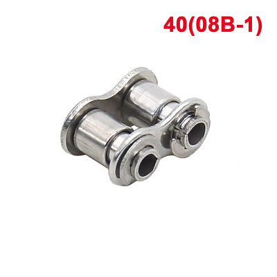 40# 08B-1 Stainless Steel Roller Chain Hollow Pin Connecting Link 40H x 1Pcs