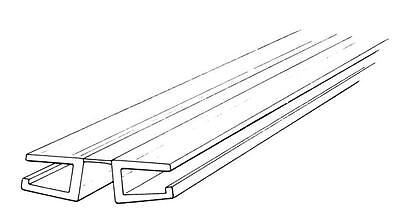 "6ft Long Clear Living H-Hinge with Bottom Groove for 3/16"" Thick Material"