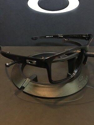 *Oakley Sliver F Folding Matte Black Silver Icons Great Condition Fast Free S/H