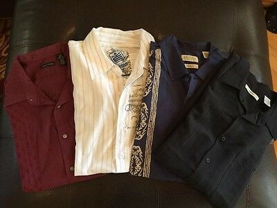 Lot Of 4, Men's Shirts, Large Shirt Sleeve, Structure St. John's Bay