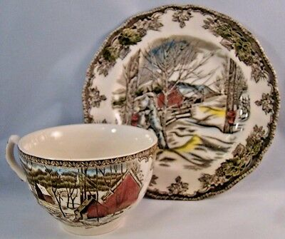 Johnson Brothers The Friendly Village Tea Cup and Saucer Plate Made In England