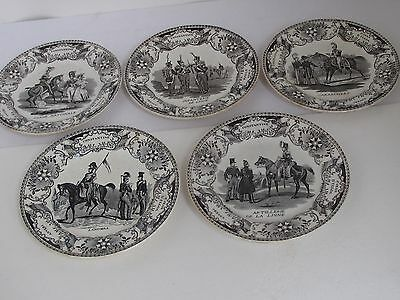 Antique Military / Infantry French Constantine Black White Transfer Plates 5