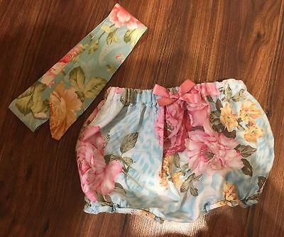 baby jam pants and head band head wrap  1-2 years shorts summer easter spanish
