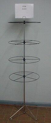 1- 4 Tier Round Rotating Display Rack for Hanging Retail Items