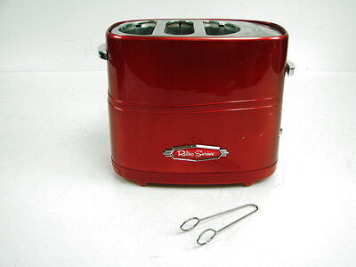Nostalgia Electric Retro Series Hot Dog and Bun Toaster Warmer Cooker Red