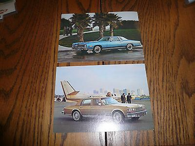 Two Cadillac Postcards Lot - Eldorado & Seville