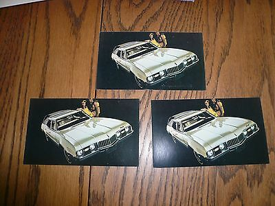 1968 (3) Oldsmobile Vista Cruiser Wagons Postcards Lot of 3