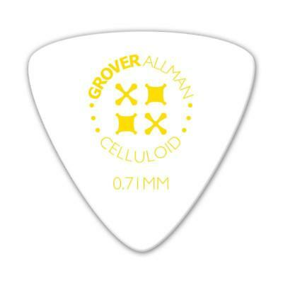 NEW Designer Guitar Pick Celluloid Large Triangle Pro Picks (10 Pack) - White