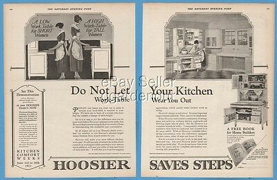 1923 Hoosier Kitchen Cabinet Work Table Short tall women Newcastle Indiana IN Ad
