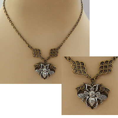 Bumble Bee Pendant Necklace Jewelry Handmade NEW Chain Accessories Gold Fashion