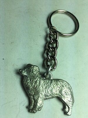Dog Keychain, Border Collie, Made Of Fine Pewter