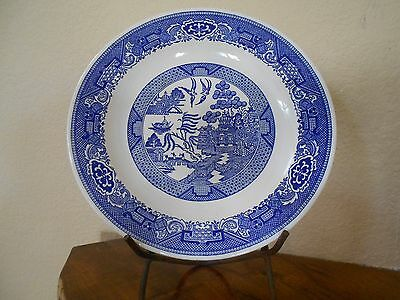 """Vintage Blue Willow Pattern 11.5"""" Charger Chop Plate Platter Marked """"USA"""""""