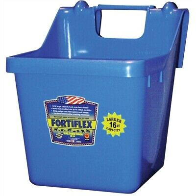 Fortiflex Hook Over Fence Feeder for Dogs/Cats and Horses, 16-Quart, Blue