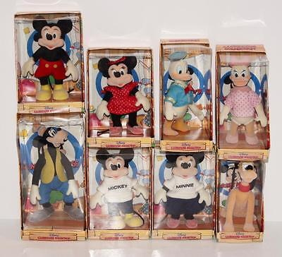 Vintage 1987 Applause Disney Clubhouse Collection 8 Figure Set Mickey Minnie MIB