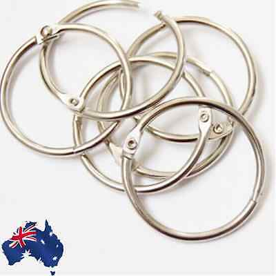 50pcs / 100pcs Hinged Rings 60mm Binder Scrapbooking Craft Hook SRINS01