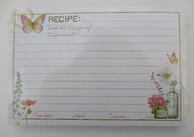 Rainbow seeds butterfly 50 Lined Recipe Cards card 4x6 Legacy Bridal shower nip