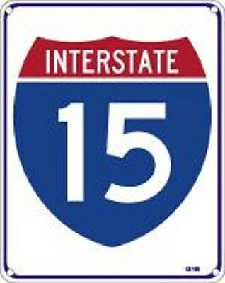"Interstate 15  8""x10"" Metal Novelty Silly Signs"