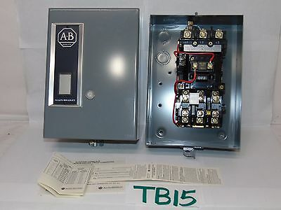 Allen Bradley 509-Aab Full Voltage Starter 3 Phase Nema Size 0 Type 1 Enclosure