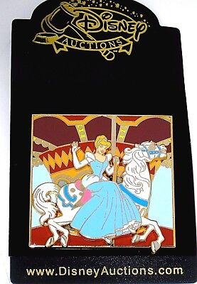 Rare New LE 500 Disney Auctions Pin✿Cinderella Carousel Horse Slider WDW Moves