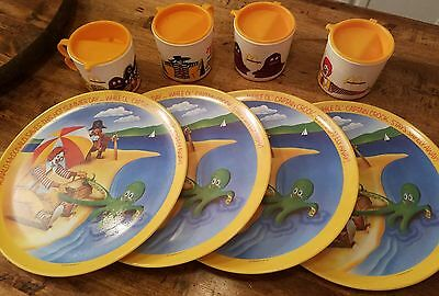 Mcdonalds collectible sippy cups & plates vintage lot of 8 Excellent