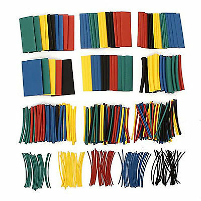 410Pcs Heat Shrink Tube Tubing Sleeving Wrap Wire Assorted Kit 5 Color 10 Size