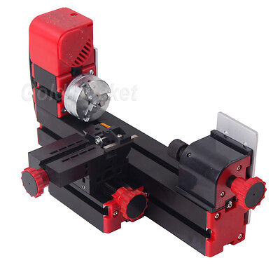 Motorized Mini Wood Lathe Machine Woodworking DIY Power Tools Model Making Craft