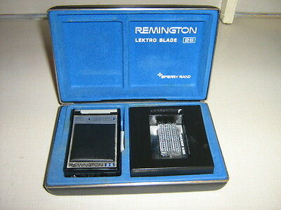 Vintage Remington Lektro Blade 26 Electric Shaver Razor Sperry Rand with Case