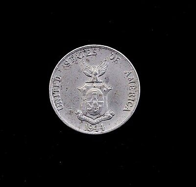 1944 Philippines 5 Five Centavos Coin KM 180a