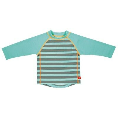 Lässig Baby Boy's UV protection swim Shirt aqua striped long sleeved
