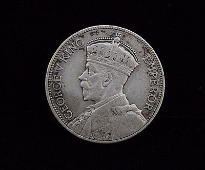 1934 New Zealand 1 One Florin Silver Coin KM 5