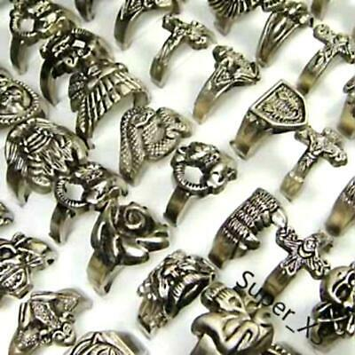 10pcs Vintage Tibet silver Men's Rings Wholesale jewelry lots New free shipping