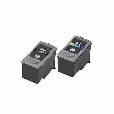 2PK Compatible PG-50 CL-51 Ink Cartridge For PIXMA MP150 160 170