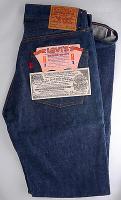 Vintage Levi's 501 Jeans Blank Red Tab 1970's Selvedge 30W 33L Levi Strauss NOS