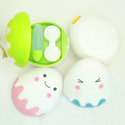 Cute Egg Style Travel Kit Cartoon Storage Contact Lens Case Box Container Holder