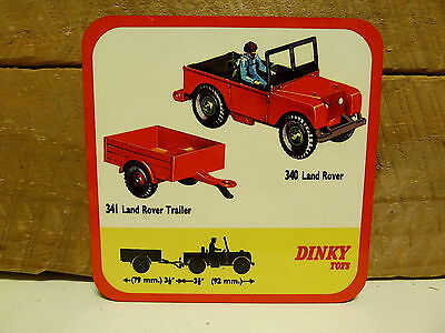 Drink Coaster Set Of 4 - Dinky Toys Land Rover