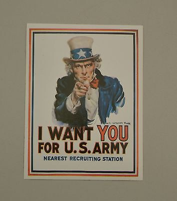 Autocollant I Want You For Us Army Uncle Sam