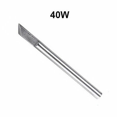 4.8mm Dia 40W Replaceable Electric Soldering Iron Bit Silverline Head Shape Tips