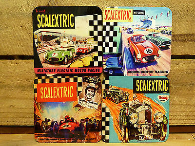 Drink Coaster Set Of 4 - Scalextric - Minature Electric Motor Racing