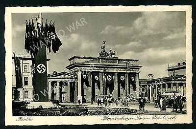 Germany (39) Berlin The Brandenburg Gate Decorated For A Festival Pc Vf Unused