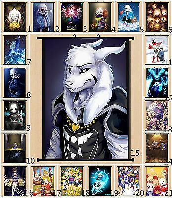 Game Undertale 21 Pattern Home Decor Wall Scroll Painting Poster 60X80cm