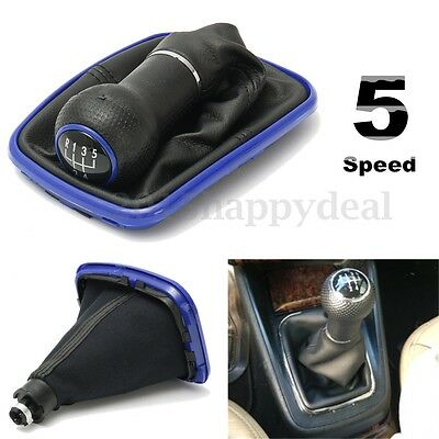 5 Speed Gear Stick Knob Shift Cover Gaitor Boot For VW Bora Jeta Golf Mk4 98-03