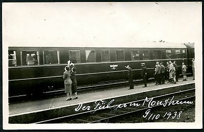 Germany 1938 Hitler Personal Train In Mousheim Pc (4) Vf Unused