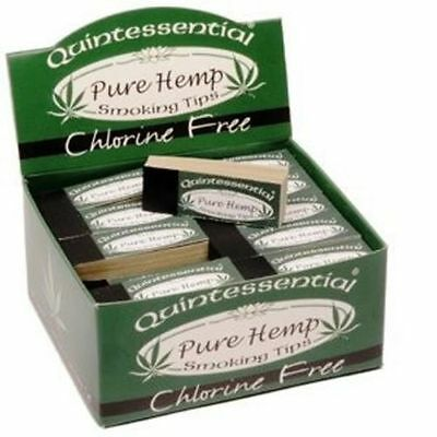 10 Quintessential PURE HEMP Filter Roach Tips Papers Chlorine Free Rolling Smoke